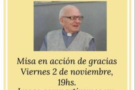Festejo cumpleaños Padre Roberto Amondarain