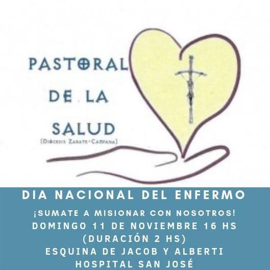 Sumate a misionar el día Nacional del Enfermo en Campana