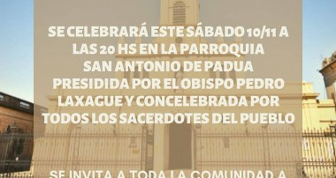 San Antonio de Areco, Parroquia San Antonio: 20 hs Misa del Día de la Tradición