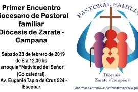 Sábado 23 febrero: I Encuentro Diocesano de Pastoral Familiar en Escobar