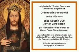 Sábado 6 de abril: Ordenaciones Sacerdotales