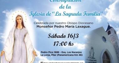 Consagración de la Iglesia Sagrada Familia en Pilar
