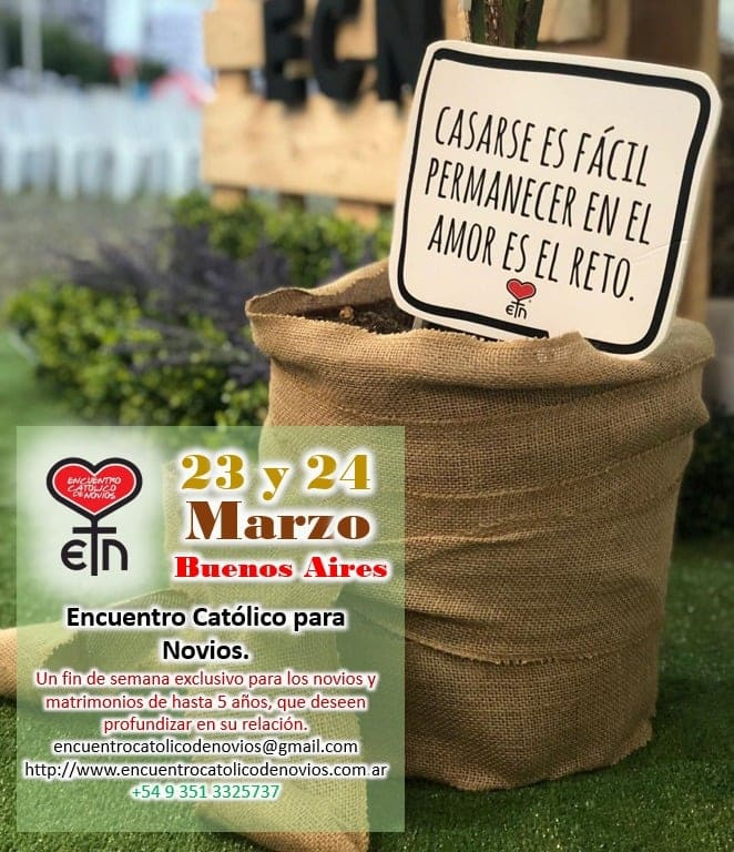 Encuentro Para Novios 23 y 24 de marzo en Escobar