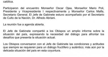 La Comisión Ejecutiva recibió la visita del Sr. Jefe de Gabinete Lic. Marcos Peña