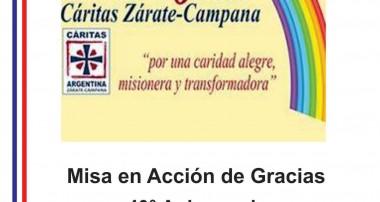 Misa en acción de Gracias: 40 años Cáritas ZC