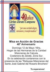 Misa Caritas 40 anos