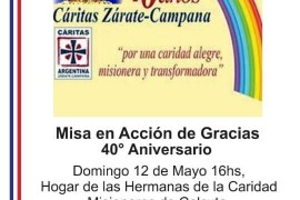 Nuestro Obispo saluda y agradece el trabajo de Cáritas