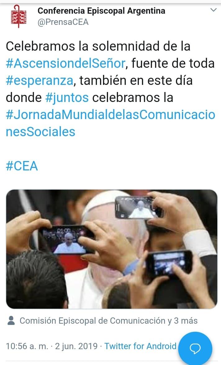 MENSAJE DEL SANTO PADRE FRANCISCO JORNADA MUNDIAL  DE LAS COMUNICACIONES SOCIALES