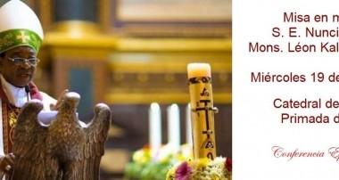 Misa en memoria del recientemente fallecido Nuncio Apostólico