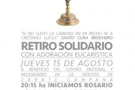 15 agosto 2019 Participá del Retiro Solidario y ayudá a quien mas lo necesita