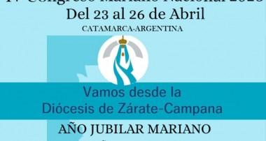 Inscribite: Vamos desde la diócesis de Zárate – Campana al Congreso Mariano en Catamarca