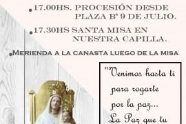 Domingo 15 septiembre: Fiestas Patronales Capilla Ntra Sra de la Paz