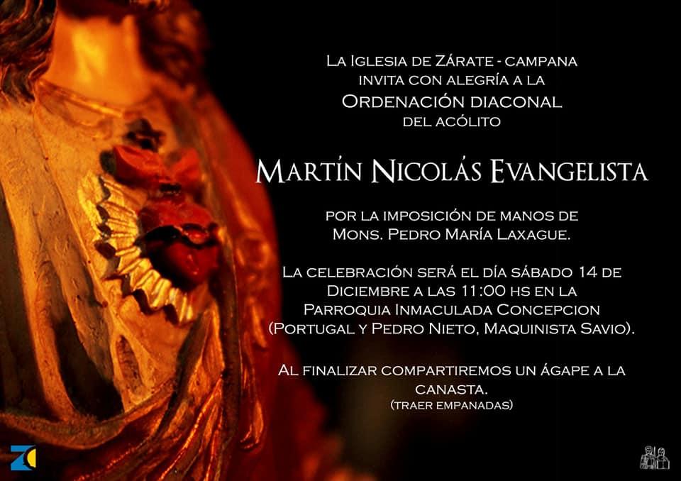 Ordenación Diaconal de Martín Evangelista