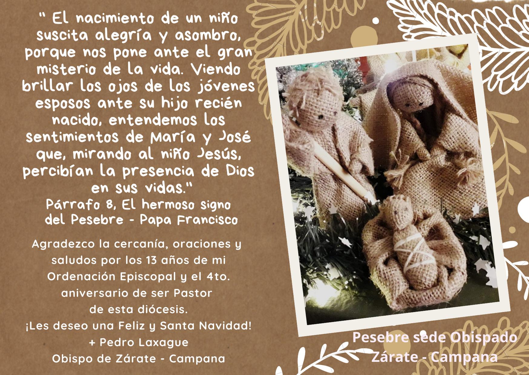 ¡Feliz y Santa Navidad! Monseñor Pedro Laxague