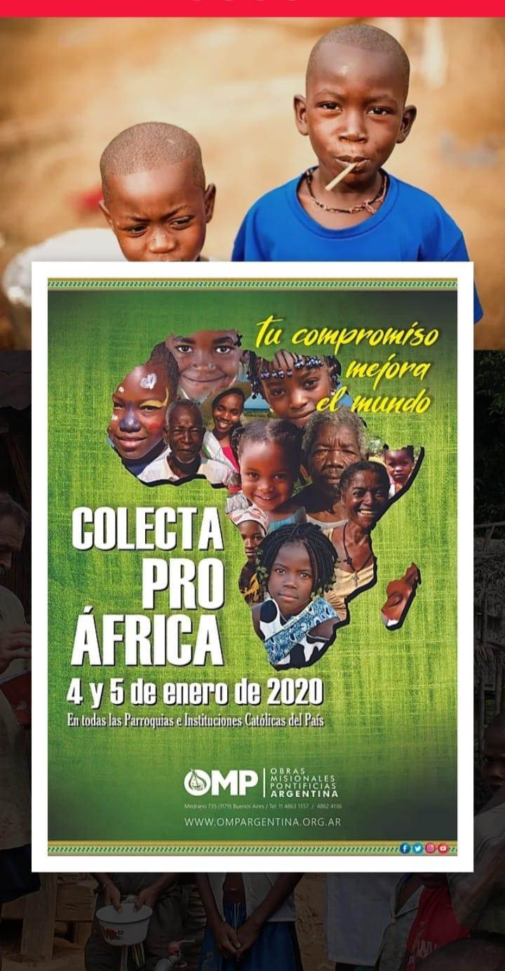 Tu compromiso mejora el Mundo – Colecta Pro África: 4 y 5 enero 2020