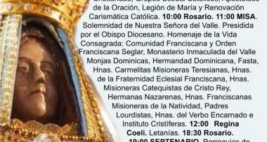 Solemne Jubileo en honor a la Virgen del Valle, Año Mariano Nacional – Cronograma del 25 de abril
