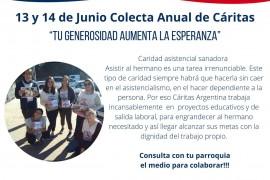 Mensaje del Obispo para Colecta Anual de Cáritas  – 13 y 14 de junio 2020